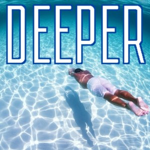 Man diving into deep clear blue sea, indicating depth of trance