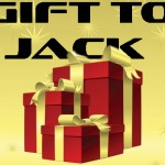 Gold and red gift boxes with an indicaiton to gift to Jack