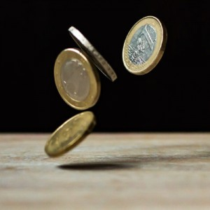 Coins flipping. A person can slightly change the odds of a coin being flipped by using only their mind