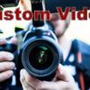photographer holding a camera, text says Custom video