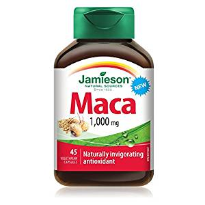 Bottle of Jamieson brand maca root in pill form