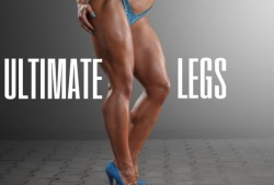 Muscular bodybuilder fitness model girl legs